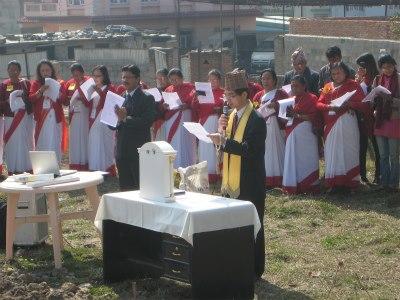 ネパール支部精舎建立〈祈念堂〉起工式① 20130308
